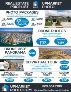 Upmarket Photo Real Estate Photography Price List 2018